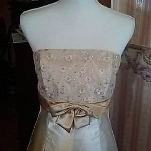 Prom cream sparkly bodice short dress